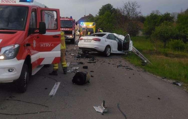 prometna nesreča, Rogašovci, gasilci, Murska Sobota