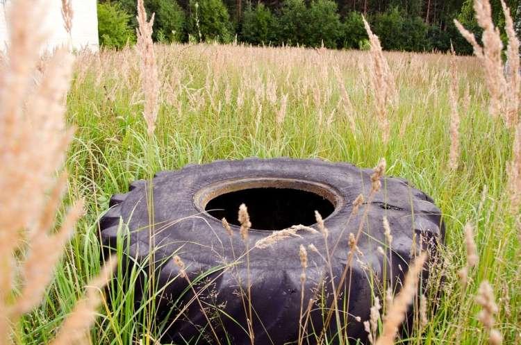 zapuščene avtomobilske gume