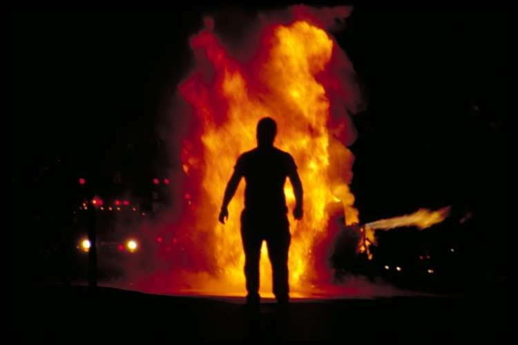 ogenj, moški, samozažig