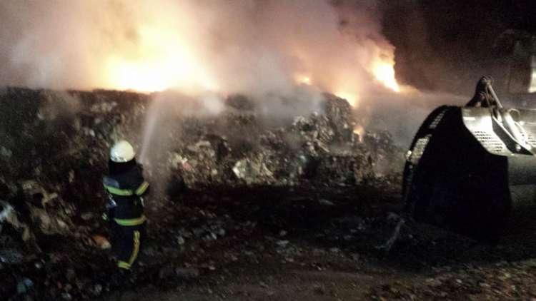 požar, Mala Mežakla, gasilci, gašenje požara, pgd_Jesenice_odlagalisce03