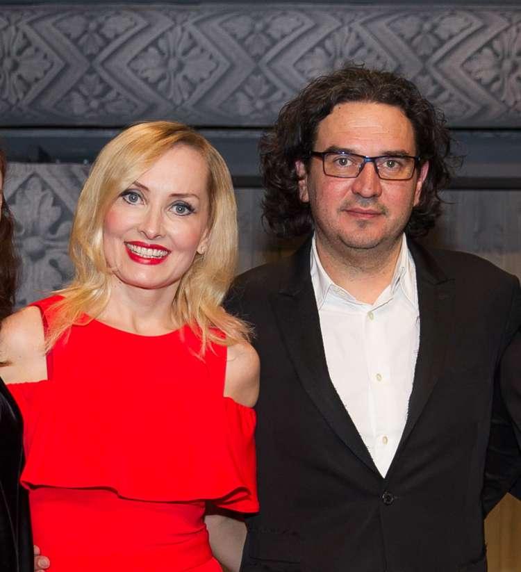 Tanja in Gašper po premieri komedije Trač.