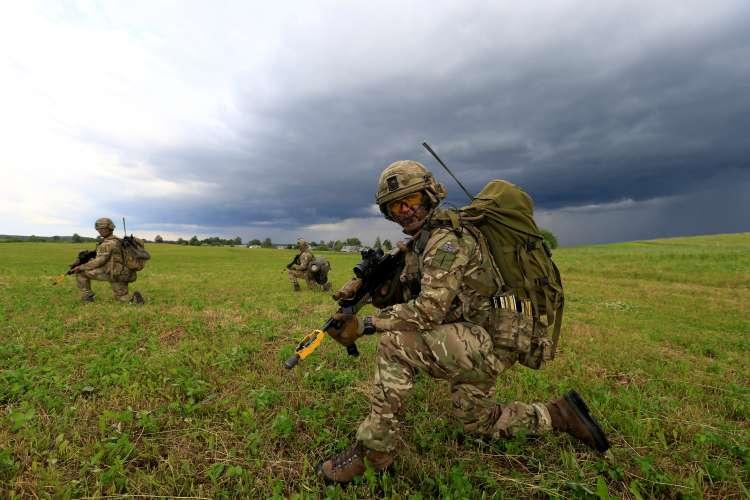 vojaške vaje, nato,  Mikyciai, Lithuania