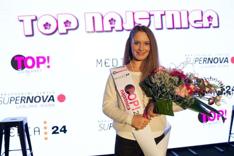 Lanskoletna zmagovalka, simpatična Mija Jagodič.