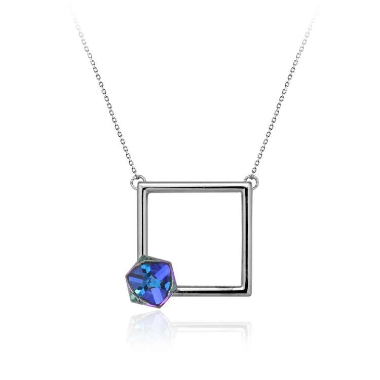 Geometrijsko navdahnjena ogrlica Lencia Qube.jpg