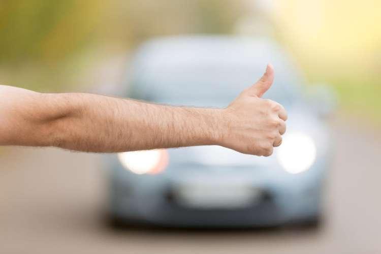 avtoštop, palec, štopar