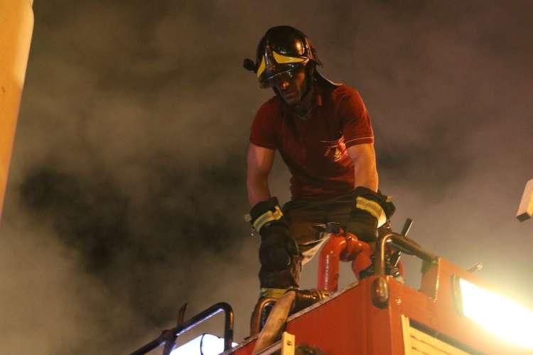 požar, gasilec, gašenje, Italija