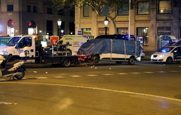 Barcelona, teroristični napad, kombi