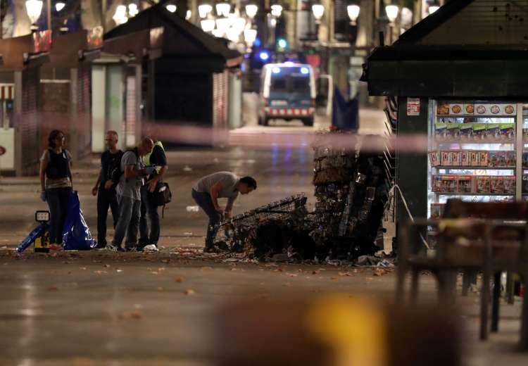 Barcelona teroristični napad, Rambla 1