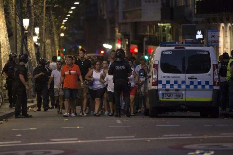 Barcelona, policija, teroristični napad,
