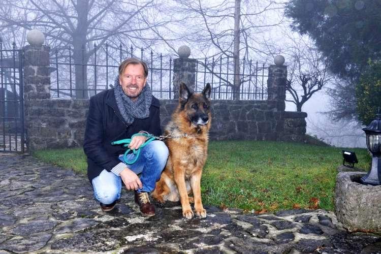 Gianni Rijavec in ovčar Tery