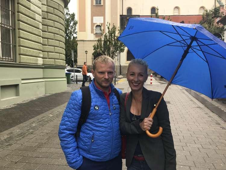 Vasilij Štokolenk, njegova žena Aleksandra