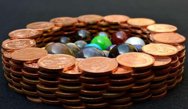 denar, kovanci, naložba, razpršitev