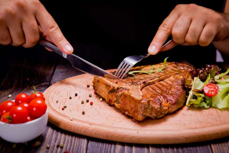 zrezek, meso, obrok