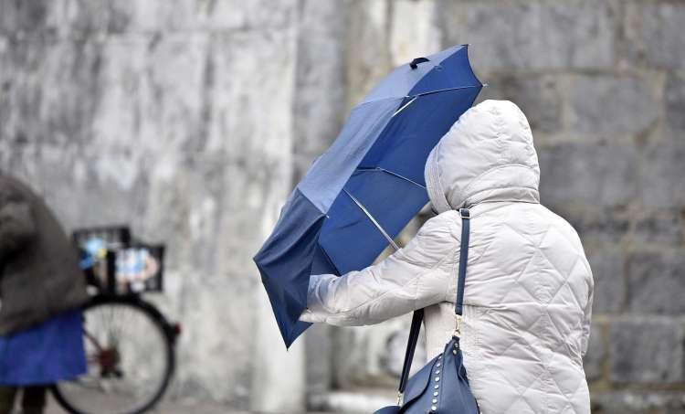 veter, dežnik, zima, simbolična