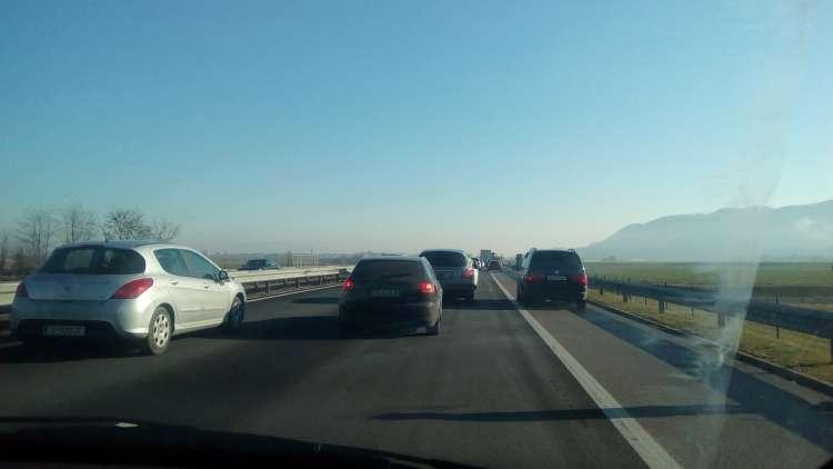 Dolenjska avtocesta, gneča, zastoj