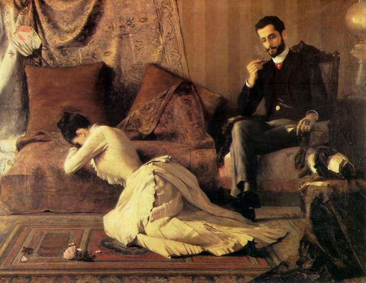 Romantično nagovarjanje je povsem nesprejemljivo. Žena naj se vede užaljeno.