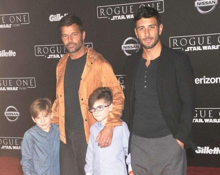 Jwan Yosef in Ricky Martin z otrokoma