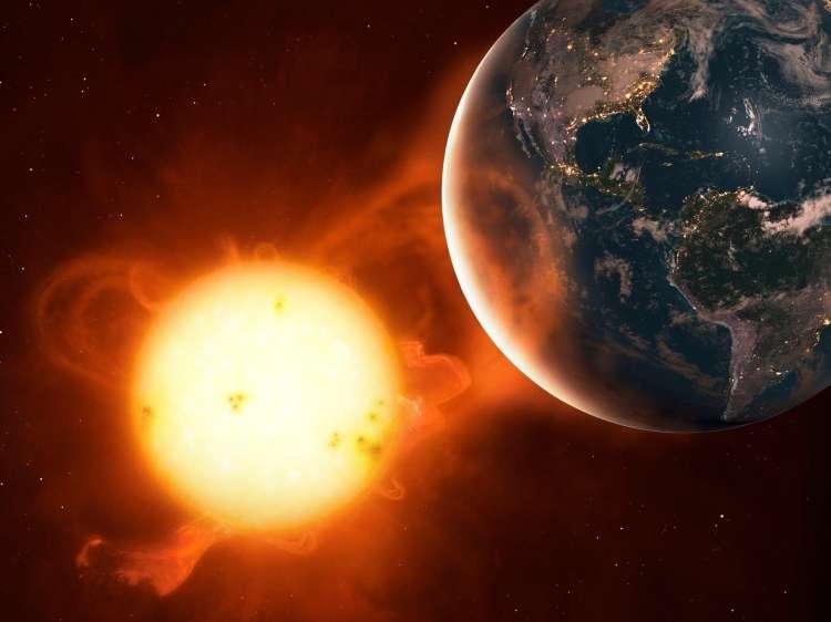 Geomagnetna nevihta, Sonce, Zemlja
