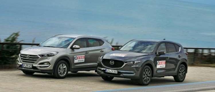 PRIMERJAVA: Hyundai tucson in nova mazda CX-5