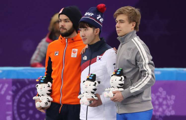 Sjinkie Knegt, Lim Hyo-jun, Semen Elistratov