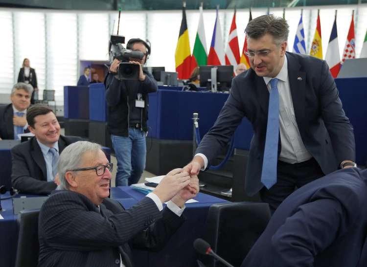Jean-Claude Juncker, andrej plenković