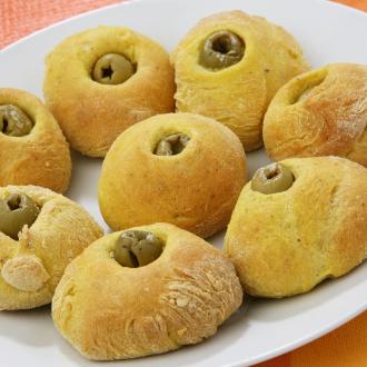 Okrogli kruhki z olivami