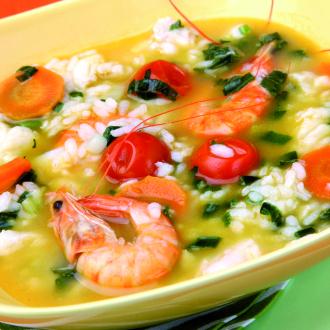 Lahka ribja juha z rižem