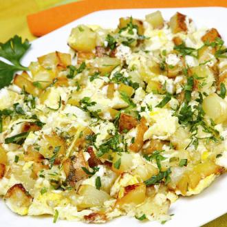 Pečeni krompir z jajcem