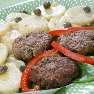 Polpete s krompirjem v solati