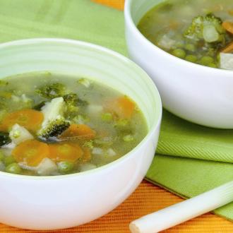 Zelenjavna juha z brokolijem