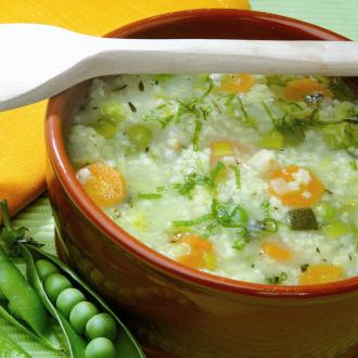 Kašnata juha z zelenjavo