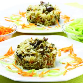 Porova rižota z jetrci