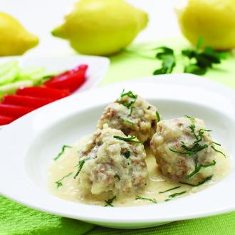Mesne kroglice v omaki avgolemono