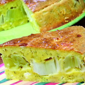 Porova pita s sirom feta