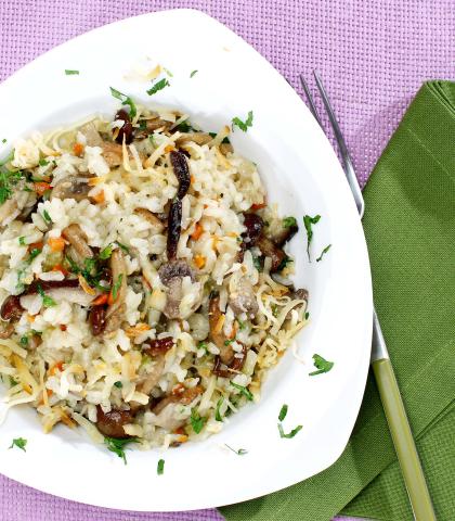 Bogata gobova rižota