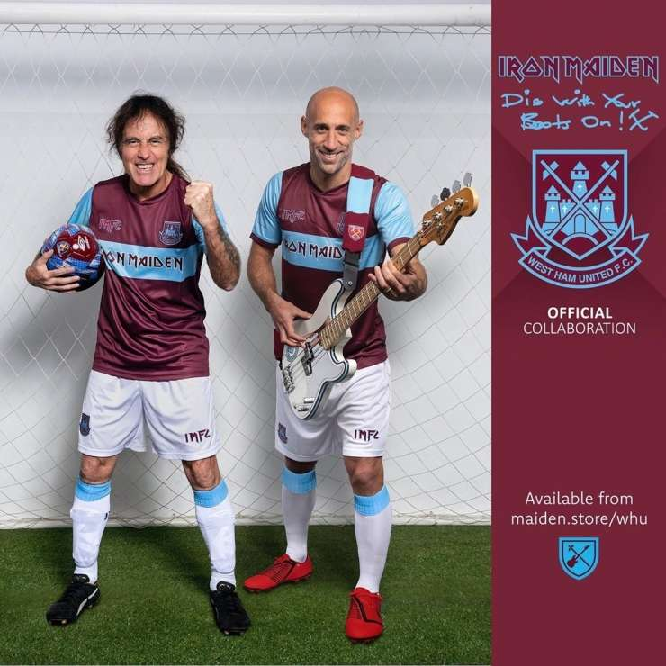 Metalci Iron Maiden so novi sponzor West Ham Uniteda