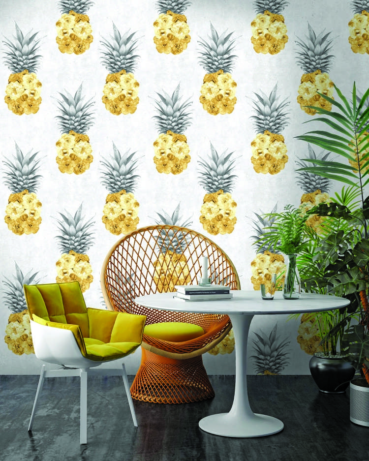 d Floral Pineapple Wallpaper By Woodchip & Magnolia.jpg