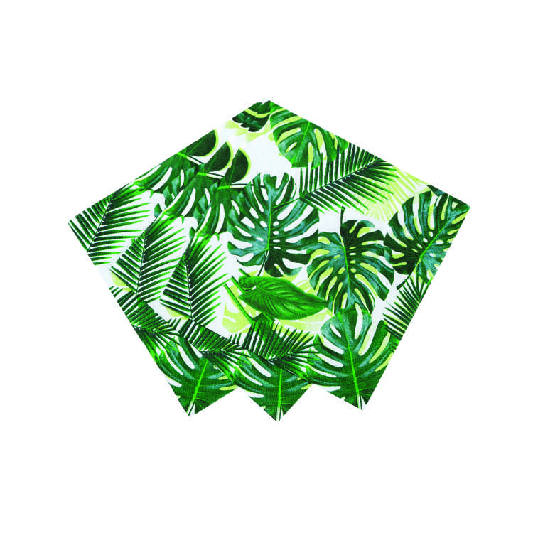d Talking Tables   Tropical Fiesta   Palm Print Cocktail Napkins .jpg