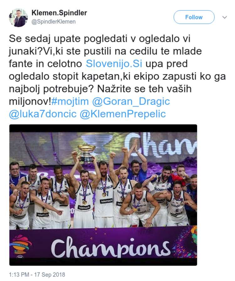 sporni tvit dragic