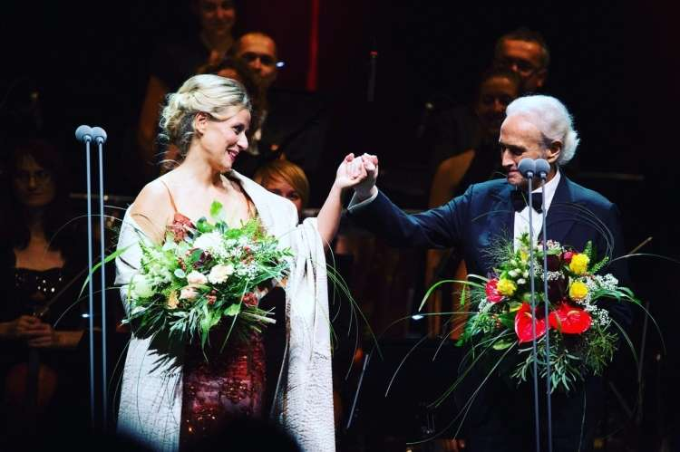 martina zadro 6 Martina with Jose Carreras at concert in Graz 2016