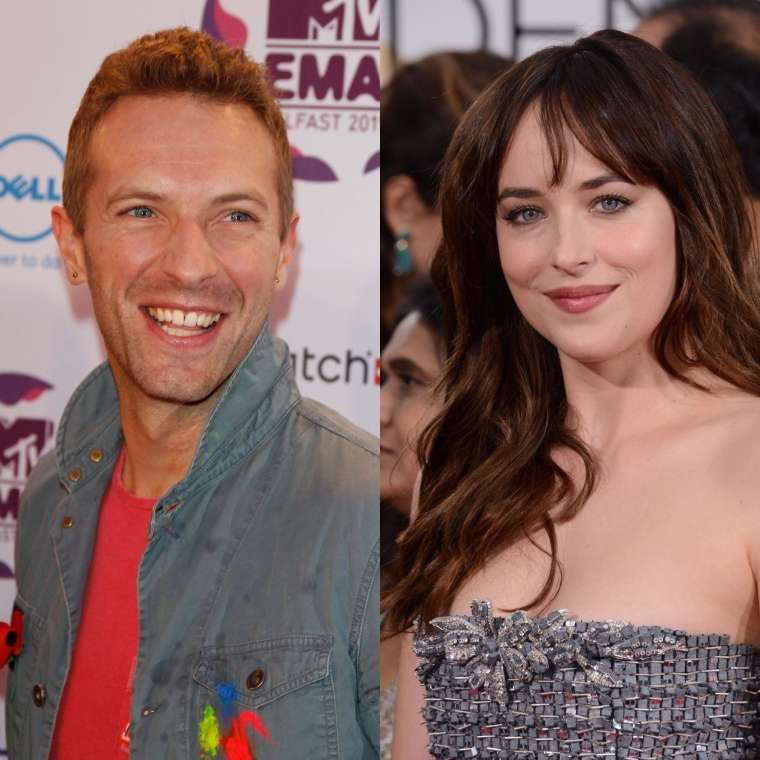 Dakota Johnson in Chris Martin.