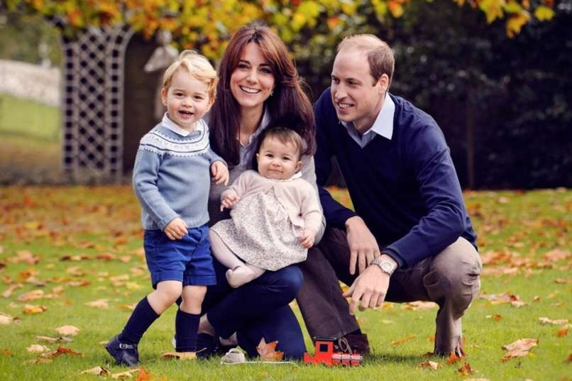 Princ William Kate George in Charlotte