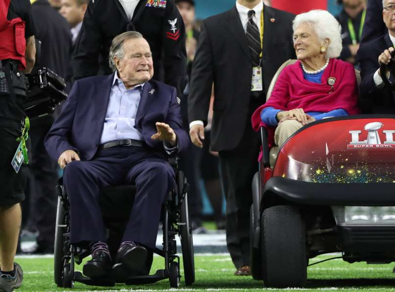 George H. W. Bush in Barbara Bush