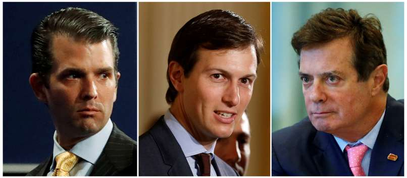 trump mlajši, Jared Kushner, Paul Manafort