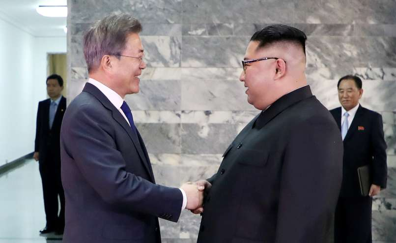 Moon Jae-in, Kim Džong-un