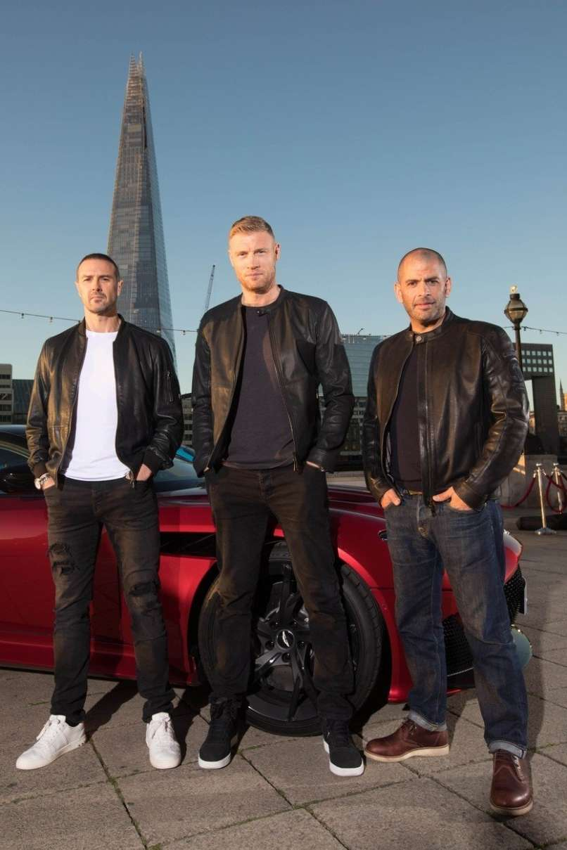 Paddy McGuinness, Andrew Flintoff, Chris Harris
