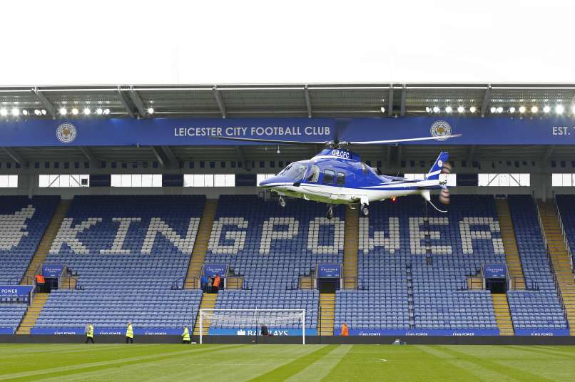 leicester, helikopter