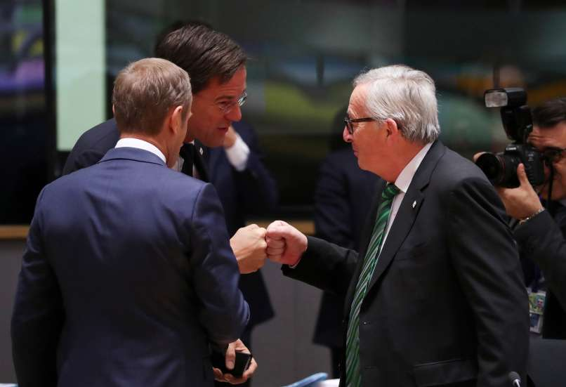jean-claude juncker, donald tusk, mark rute