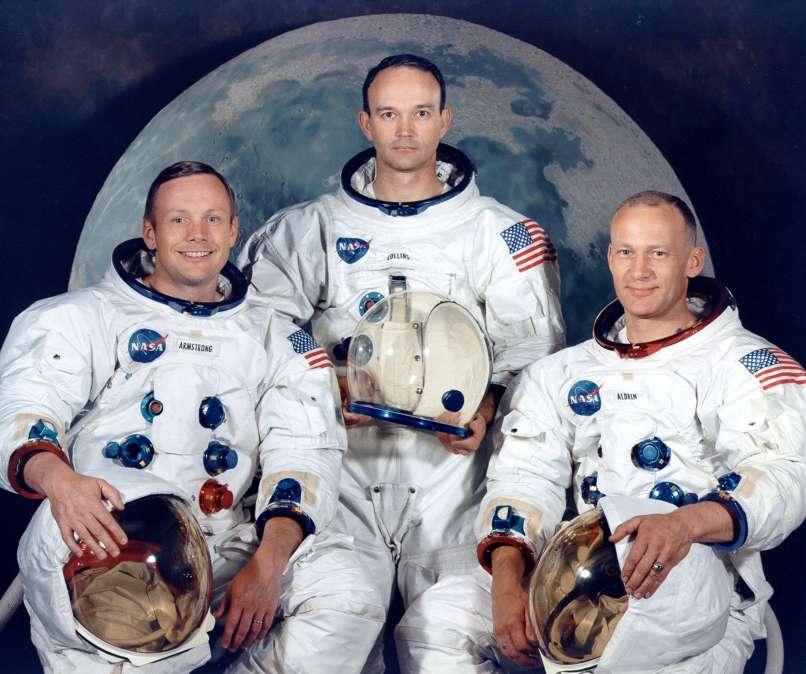 Neil Armstrong, Edwin Aldrin, Michael Collins, pristanek na luni