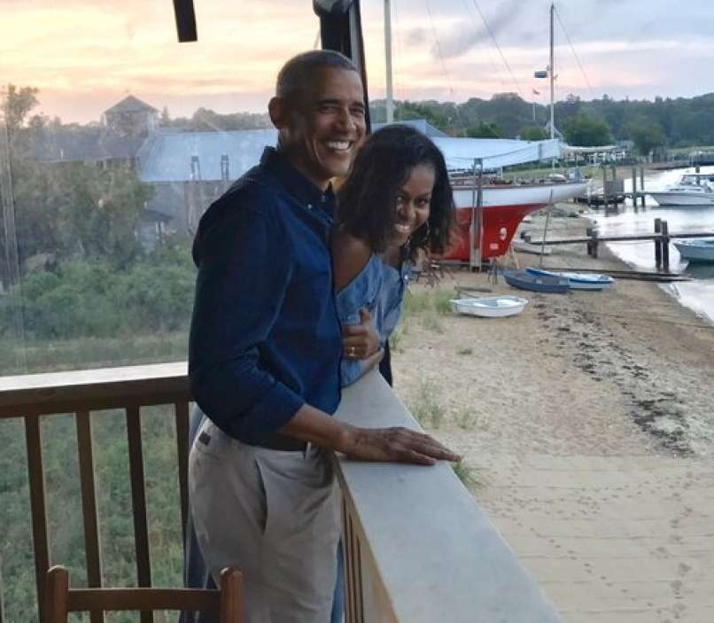 michelle in barack obama